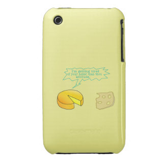 Holier Than Thou Attitude Cheese iPhone 3 Covers