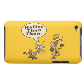 holier than thou holey vs holy cow pun humor barely there iPod cases