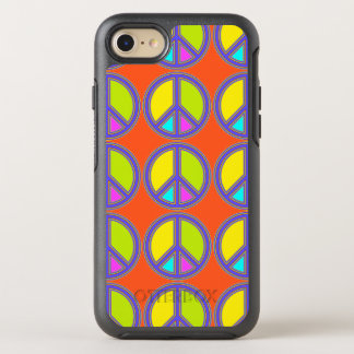 holiES - colorful PEACE sign + your ideas OtterBox Symmetry iPhone 8/7 Case