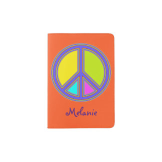 holiES - colorful PEACE sign + your ideas Passport Holder