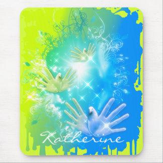 holiES - Flying Hands Pigeons ART Mouse Pad
