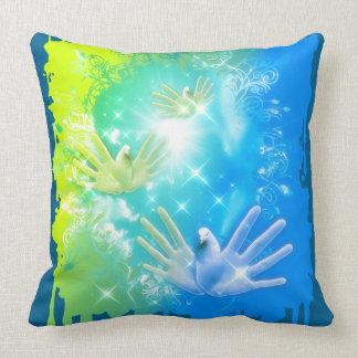 holiES - Flying Hands Pigeons ART Throw Pillow