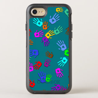 holiES - hands colored pattern 1 + your backgr. OtterBox Symmetry iPhone 7 Case