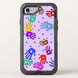 holiES - hands dots colored pattern 1 OtterBox Defender iPhone 7 Case