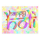 holiES - HAPPY HOLI coloured gradients 1 Postcard