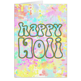 holiES - HAPPY HOLI simply colored outline 1 Card