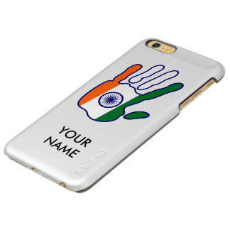 holiES - India Flag Hand + your name iPhone 6 Plus Case