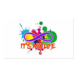 holiES - Lemniscate - It's my Life Splashes Pack Of Standard Business Cards