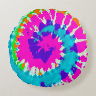 holiES - Power Spiral Batik Style Round Cushion