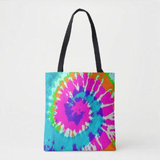 holiES - Power Spiral Batik Style Tote Bag