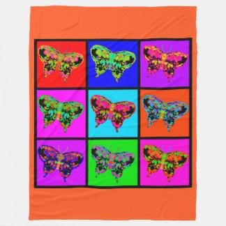 holiES - Psychedelic Butterflies Mosaic Fleece Blanket