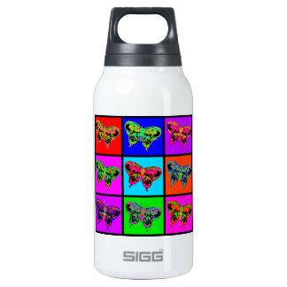 holiES - Psychedelic Butterflies Mosaic Insulated Water Bottle