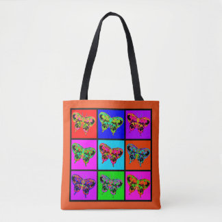 holiES - Psychedelic Butterflies Mosaic Tote Bag