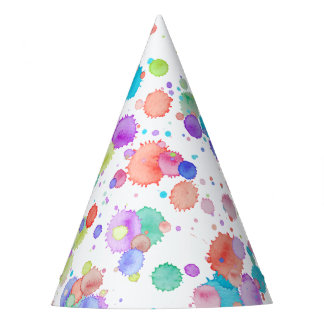holiES - Splatter multicolored 1 + your backgr. Party Hat