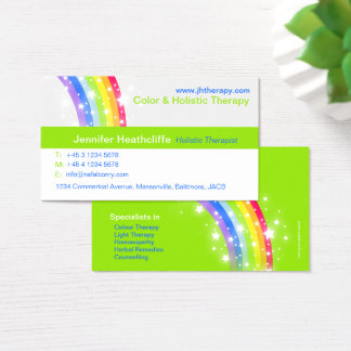 Holistic colour therapy company business card