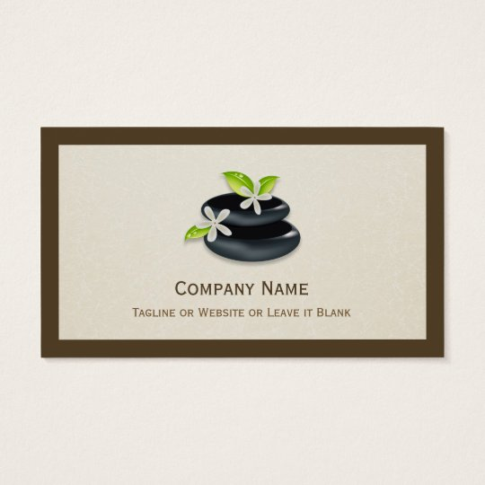 Holistic Healing - Elegant Zen Logo Business Card