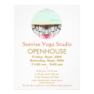 Holistic Health and Healing Arts Sunrise Logo 21.5 Cm X 28 Cm Flyer