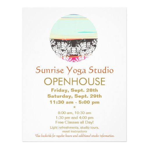 Holistic Health and Healing Arts Sunrise Logo Personalized Flyer