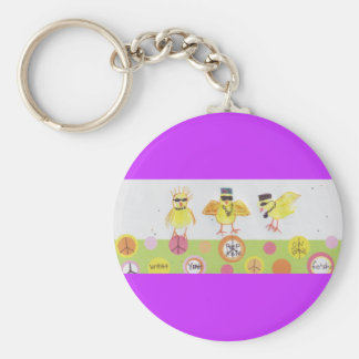 HOLLA AT MY PEEPS! BASIC ROUND BUTTON KEY RING