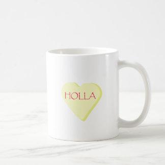 Holla Candy Heart Coffee Mug