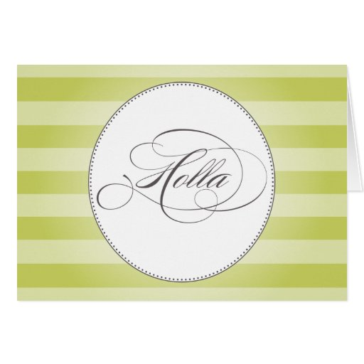 HOLLA GREEN STRIPES | NOTE CARDS