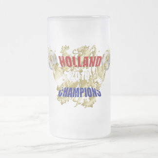 Holland 2010 Leeuw Champions of the World Frosted Glass Mug