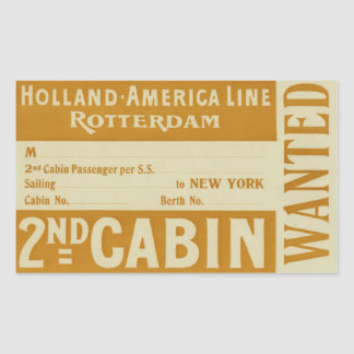 Holland America Line Rotterdam Rectangular Sticker