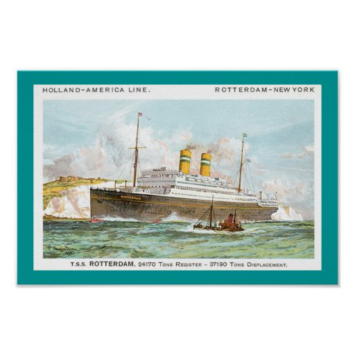 Holland America Line's Rotterdam of 1908 Print
