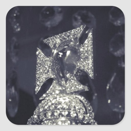 Holland Amsterdam Queen's diamond crown Square Sticker