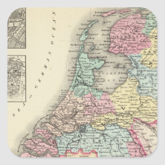 Holland and Belgium 2 Square Sticker