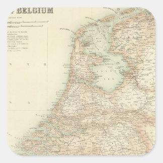 Holland and Belgium 3 Square Sticker