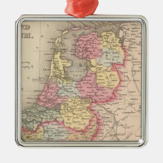 Holland and Belgium Silver-Colored Square Decoration