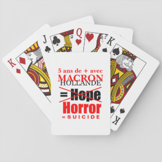 Holland and Macron it is the Horror charts poker Playing Cards