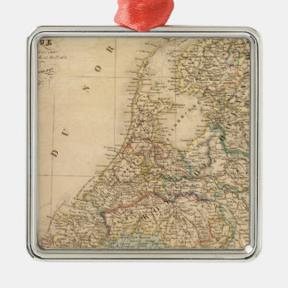 Holland, Belgium 2 Silver-Colored Square Decoration
