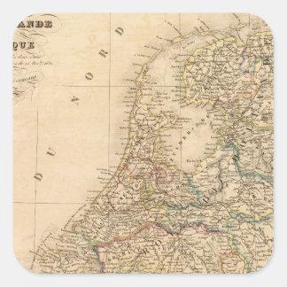 Holland, Belgium 2 Square Sticker