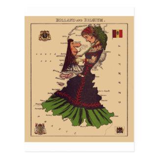 Holland & Belgium Postcard