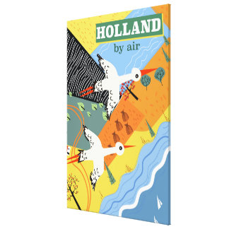 Holland by air vintage vacation print