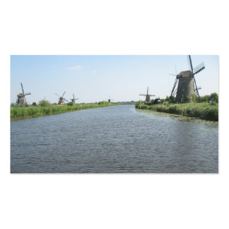 Holland Canal Windmills Small Photo Card Pack Of Standard Business Cards