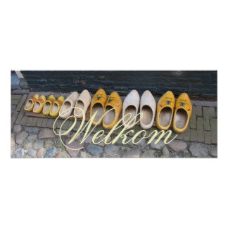 Holland Clogs Dutch Wooden Shoes Poster