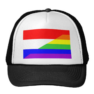 holland country gay proud rainbow flag homosexual trucker hat