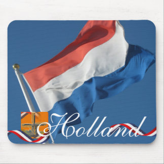 Holland Dutch Flag Red White Blue Mousepad