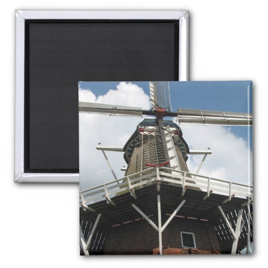 Holland Dutch Windmill Fridge Magnet Square