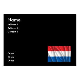 HOLLAND FLAG BUSINESS CARD TEMPLATE