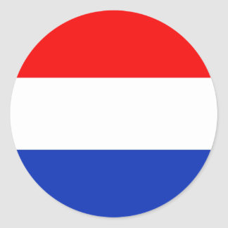 Holland Flag Classic Round Sticker
