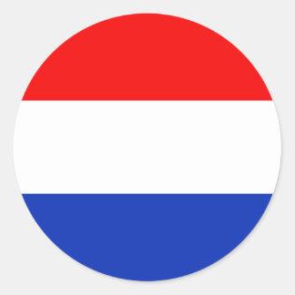 Holland Flag Round Sticker
