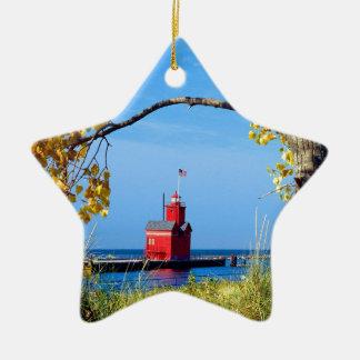 Holland Harbor Lighthouse Christmas Ornament