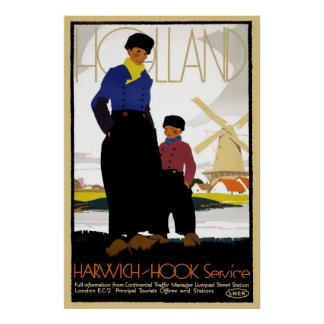 Holland Harwich Hook Service Poster