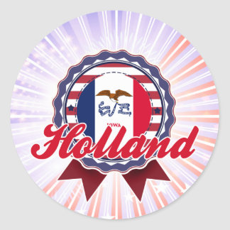 Holland, IA Round Stickers