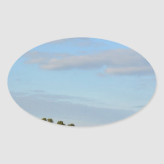 Holland Landscape panorama Oval Sticker