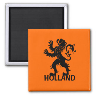 Holland Lion Square Magnet